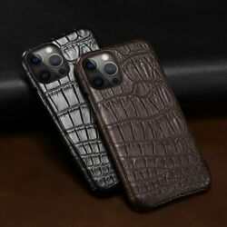 Genuine Crocodile Leather Case For Iphone 12 Pro Max Alligator Belly Skin Cover