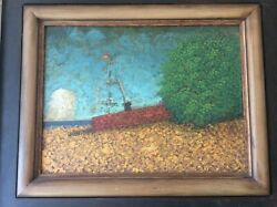 Alfred Stockham And039boat And Cloudand039 Original Painting