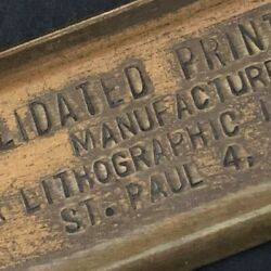 C1920and039s-30and039s 7 3/4 Consolidated Printing Ink Co. St. Paul Adv. Letter Opener