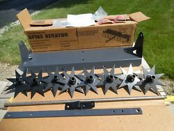 Nos Brinly-hardy Sa-302 Lt Steel Spiker Aerator Tow Behind Lawn Garden Tractor