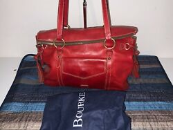 Dooney And Bourke Florentine Leather The Smith Bag - Red