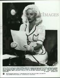 1991 Press Photo Susan Griffiths As Marilyn Monroe In Marilyn And Me