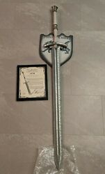 Valyrian Steel Game Of Thrones Book Version Ice Sword With Signature