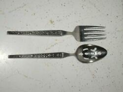 Riviera Stainless Serving Slotted Spoon And Serving Fork Cordova Japan