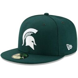 Michigan State Spartans New Era Basic 59fifty Fitted Hat - Green