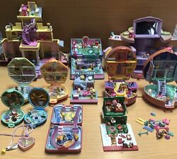 Huge Vintage Bluebird Polly Pocket 80andrsquos / 90andrsquos 12 Sets 1 Locker 75 Figure And Acc.