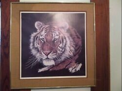 Antique Oil Painting Of A Lion And Signed