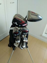 Mizuno T-zoid Plus 2 Drivers, Iron, Lynx S, Putter Irons 9-piece Used From Japan