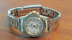 Rolex Tudor Submariner Oyster Date White Dial 18k And Ss Watch