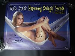 White Zombie Fully Signed 18x24 Promotional Poster Supersexy Swingin' Sounds Rob