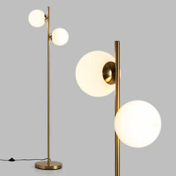 65 Sphere Led Floor Lamp W/ 2 Led Light Bulbs And Foot Switch Bedroom Home