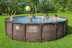 🌊coleman 18ft X 48in Power Steel Deluxe Pool Free Shipping Read Description🌊