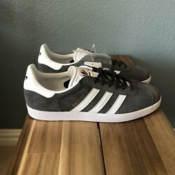 Adidas Originals Gazelle Menand039s Shoes Size 9.5 Gray/white Sneakers