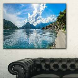Kotor Bay On Summer Day Panorama - Landscape Art Canvas Small