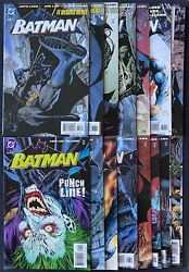 Batman 608-619 Hush Includes 608 2nd Print And 619 Variants Vf/nm 15 Issue Lot