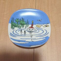 Arabia Discontinued Limited Wall Plate Decorative Plate Swimming Mii Mint A