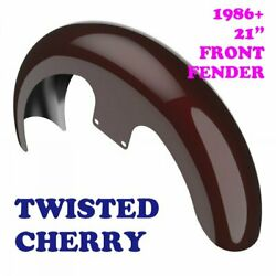 Twisted Cherry 21 Reveal Wrapper Hugger Front Fender Fit 86-20 Harley Touring