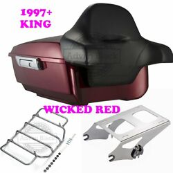 Wicked Red King Tour Pack Pak Fit 1997-2020 Harley Street Road Electra Touring