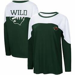 Minnesota Wild G-iii 4her By Carl Banks Womenand039s Pop Fly Long Sleeve T-shirt -