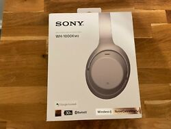 Sony Wh-1000xm3 Wireless Noise-canceling Over-ear Headphones Silver Pre-owned