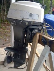 40 Horse Mariner Outboard Engine With Electric Start Good Running Condition