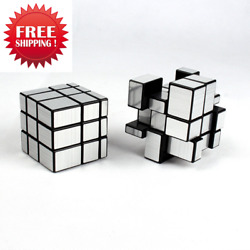 3x3x3 Mirror Cube Rubik Silver Surface Puzzle Magic Educational Toy Gift child