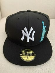 New Era New York Yankees Statue Of Liberty 59fifty 5950 Black Hat Size 8 New
