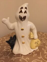 Lenox Halloween Trick Or Treat Ghost With Cat 7 Tall No Box