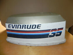 Evinrude 35hp Outboard Motor Cowling Hood 0281994 For 1980and039s Omc Johnson Cowl