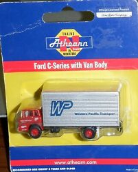 Athearn N Scale 10088 Ford C-series With Van Body - Western Pacific Railroad