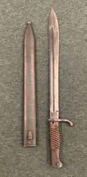 Wwi / Wwii Alex Coppel Solingen German Bayonet And Scabbard W15 Under Crown/over C