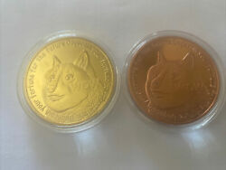 2014 Dogecoin 24k Gold Plated/ And 1oz Copper Plated Qty.2