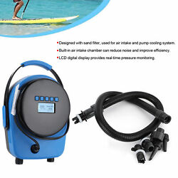 Portable Electric Air Pump 20psi High Pressure Dual Stage Inflation Lcd Display
