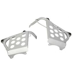 New Pair Nerf Bars Silver Heel Guards Footrest Stand For 90-06 Yamaha Banshee