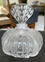 Lalique Clear And Frosted Crystal Mirabel Perfume Bottle Rare