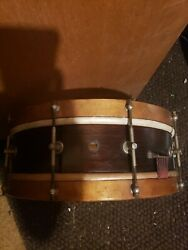Ca. 1900-1920 Carl Fischer Snare Drum Good Shape Skin Heads Early And Original