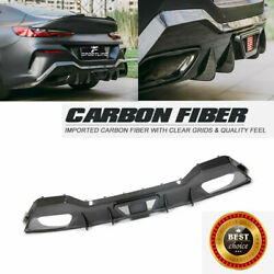 Dry Carbon Rear Bumper Diffuser Body Kit For Bmw 8series G16 M850i M-sport 18up