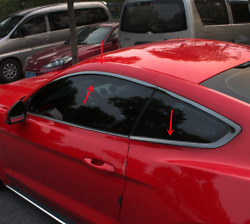 New For Ford Mustang 2015-2021 Black Stainless Steel Window Strip Cover Trim6
