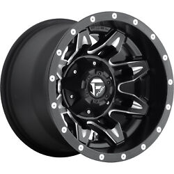 4- 15x10 Black Lethal 5x4.5 And 5x4.75 -43 Rims Extreme Country 33 Tires