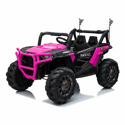 Tobbi 12v Kids Electric Battery Ride On 3 Speed Toy Suv Car, Pink For Parts