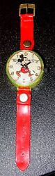 Rare Vintage Mickey Mouse Children's Wind Up Watch From Marx Toys-works