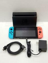 Nintendo Hac-001 Switch Handheld Video Game Console Red/blue Joycons W/ Dock