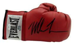 Mike Tyson Signed/autographed Red Everlast Boxing Glove Right Jsa 146560