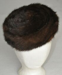 Vintage Neiman Marcus Made To Order Mink Fur Hat Beret - Size Small