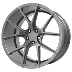 Staggered Verde Axis Front22x9rear22x10.5 5x120 +20mm Graphite Wheels Rims