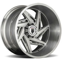 4-american Truxx At1906 Spiral 24x14 8x170 -76mm Brushed Wheels Rims 24 Inch