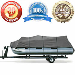 Brand New Pontoon Storage Cover 20ft - 24ft Gray Tie Down Straps Weather Proof