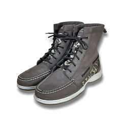 Sperry Top Spider Womens Brown Animal Print Hikerfish Ankle Boots Size 10 M