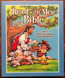 Childrens Bible Read With Me Bible Deluxe Edition Nirv Illustrated 2 Audio Cds