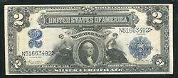"""Fr. 256 1899 2 Two Dollars """"mini Porthole"""" Silver Certificate Currency Note Xf"""
